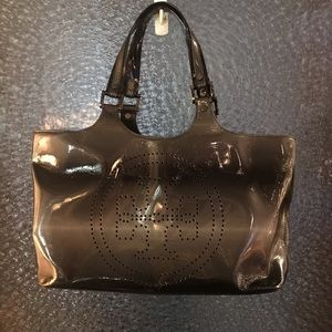 Ombré Grey and Black Tory Burch Tote